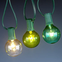 Seaside-Colored Bulb String Lights, Set of 10