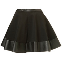Black Contrast Hem Skirt - Skirts - Clothing - Topshop