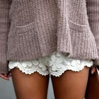 Lace Ruffle Shorts by SheaBoutique on Etsy