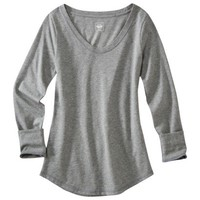 Mossimo Supply Co. Juniors Long Sleeve Scoop Neck Tee - Assorted Colors