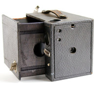 Antique Seneca Box Scout No 2 Camera - 1910s Vintage Black Box Camera / Classic Rectangular Box