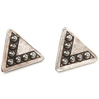 Vanessa Mooney Earrings Triangle Silver