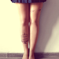 Escape From Cage - Tattoo Tights - Free Shipping - Made to order :)