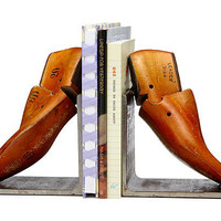 VINTAGE SHOE FORM BOOKENDS | metal shoe horn, antique | UncommonGoods