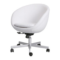 SKRUVSTA Swivel chair, Idhult white