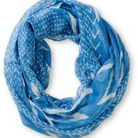 D&amp;Y Chevron Stripe Blue Infinity Scarf