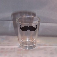 Mustache Shot Glass by TheCraftyGeek86 on Etsy