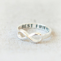 Best Friends Infinity Ring in silver by laonato on Etsy