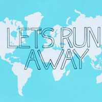 One Kings Lane - Typography & Letterpress - Let's Run Away, Blue