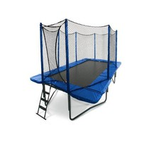 JumpSport 10&#x27; x 17&#x27; StagedBounce Trampoline with Safety Enclosure
