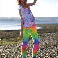 Nyx Rainbow Tie Dye Leggings from Obscure Couture