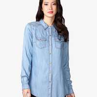 Longline Chambray Shirt
