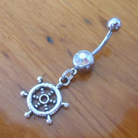 Belly button ring  Body Jewelry  Silver Ships by ChelseaJewels