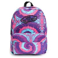 Vans Realm Pink &amp; Purple Tie Dye Backpack