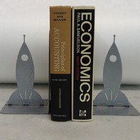 Rocketship Bookends FREE USA Shipping by KnobCreekMetalArts