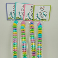 Handmade Easter Wishes Bunny Topper Gift Set Of 4 Sleeves of M&Ms