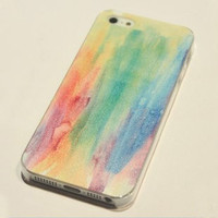Cool Rainbow Painting Hard Cover Case For Iphone 4/4s/5