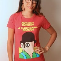 A Clockwork Orange book cover t-shirt | Outofprintclothing.com