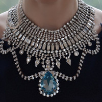 Josephine- the ultimate swarovski statement necklace- made to order- date of shippment, after 16 th of March