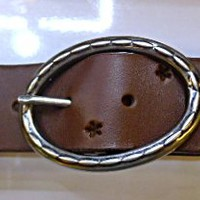 handmade  unisex chocolate brown leather belt