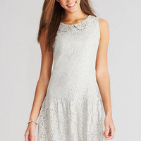 Peter Pan Drop Waist Lace Dress