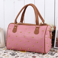 Retro Shiny Starry Sky  Rivets Handbag Shoulder Bag