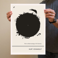 Art Print, Illustration, Kurt Vonnegut Quote, Art Posters, Beat Writers, Postmodern Art Vonnegut Poster