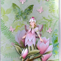 Flower Fairy Greeting Card by maggiemoocards on Etsy