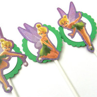 Tinkerbell Cupcake Toppers by whimsicaloccasionsxo on Etsy