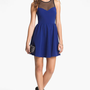 Lush Illusion Fit &amp; Flare Dress (Juniors) | Nordstrom