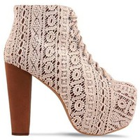 Jeffrey Campbell 'Lita Mac' White Lace Boot
