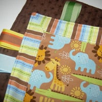 Jungle Fun Taggie Security Blanket