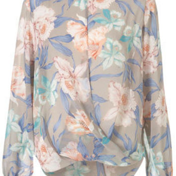Lily Drape Front Blouse - Blouses  Shirts - Tops  - Clothing - Topshop