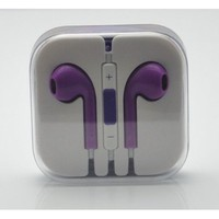 Amazon.com: RainbowMOBO Stereo Earpods Earbuds Earphones Headphone Headset with Mic and Remote for Apple iPad3/2/1 iPhone 5 / 4S / 4G / 3GS / 3G Ipod Touch 5 Ipod 5th Ipod Nano 7 PURPLE: Cell Phones & Accessories