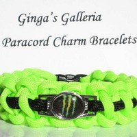 ENERGY DRINK Themed Paracord Survival Charm Bracelet You Choose Colors