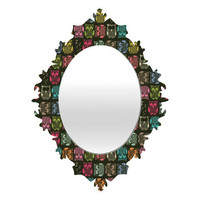 DENY Designs Home Accessories | Sharon Turner Sherbet Owls Baroque Mirror