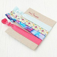 Free People Womens Elastic Printed Hair Ties -