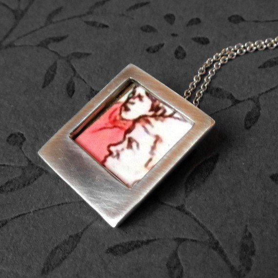 Sterling silver polaroid photo necklace by PicaPicaPress on Etsy