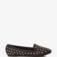 Spike-Accented Canvas Loafers | FOREVER 21 - 2023032124