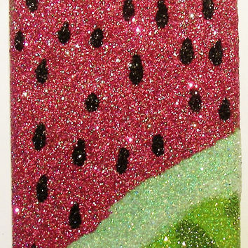 Sparkly Watermelon iPhone 4/4G OR iPhone 5 Cell Phone Case