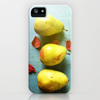 Three Pears iPhone Case by Olivia Joy StClaire | Society6