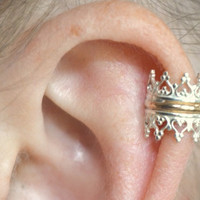 Princess Ear Cuff high ear Sterling Silver and by ChapmanJewelry