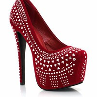 embellished-platforms-pumps BLACK RED - GoJane.com