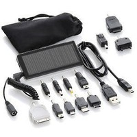 JuiceBar JB01S Pocket Solar Charger w/USB, Carrying Bag & 12 Adapters Included