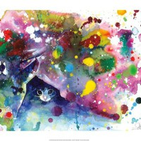 Meow Print by Lora Zombie