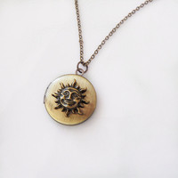 Sun God Locket Necklace