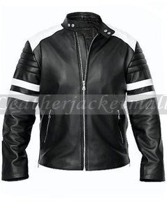 tyler durden jacket black &amp; white