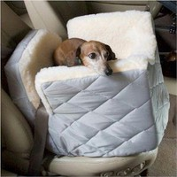 Amazon.com: Dog Supplies Lookout I Dog Car Seat - Small / Azure Plaid: Pet Supplies
