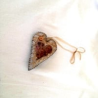 Victorian Lady Heart Sachet Pink Sugar Fragrance Gold Brown Peach Rust