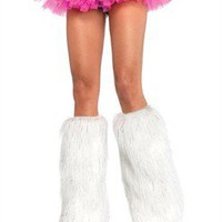 AccessoryGeeks - Halloween Sale - LegAvenue Costume Furry Lurex Leg Warmers - 3923 Free Shipping!